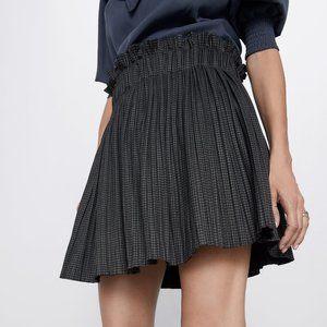 Gray Pleated Zara Skort